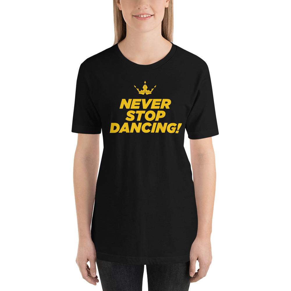 Barbara - Never Stop Black Tee