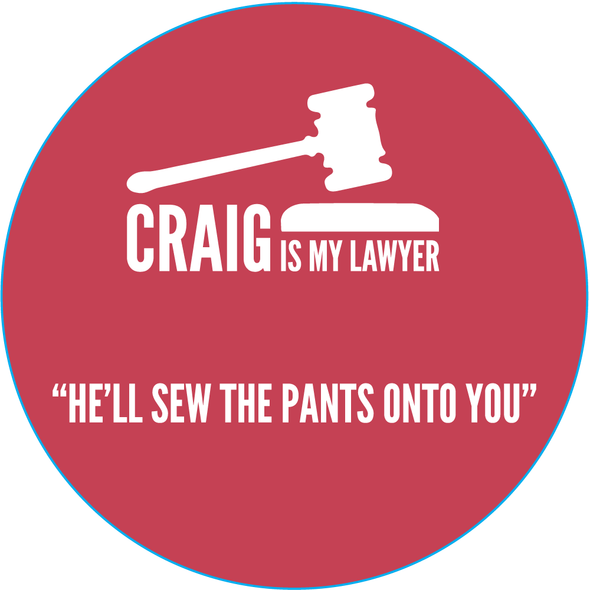 Craig is my Lawyer - Sticker