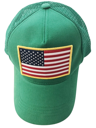 Kelly Green USA Trucker hat