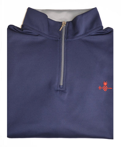 Navy Pineapple Quarter Zip Pullover