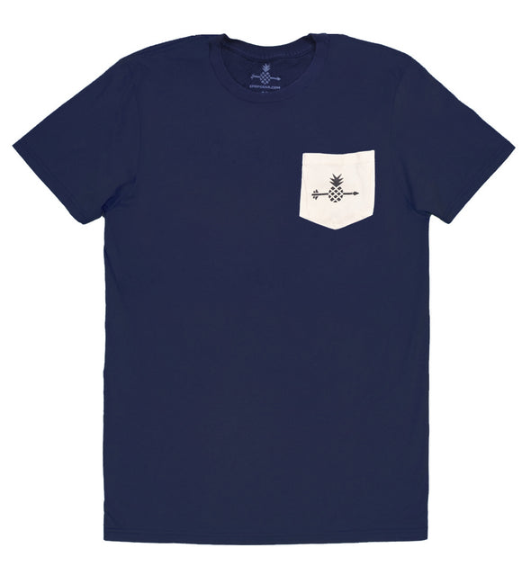 Pineapple Pocket tee - Blue