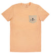 Pineapple Pocket tee - Peach