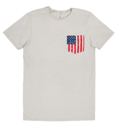 American Flag Pocket Tee
