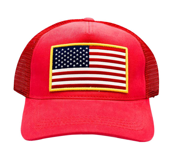 Red USA Flag Hat