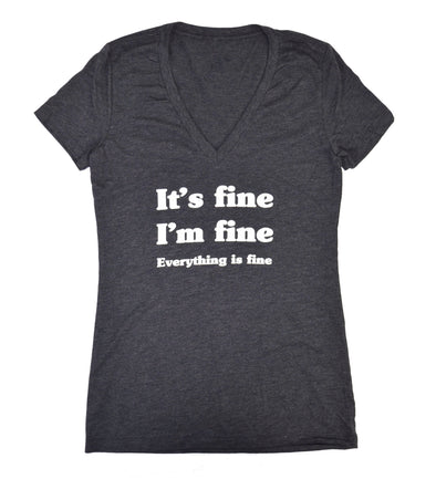 It's Fine Tee - Grey - Women's Cut