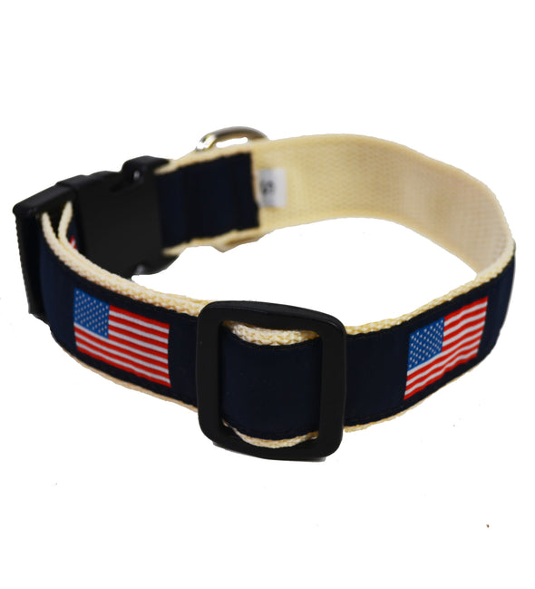 USA Dog Collar - Khaki