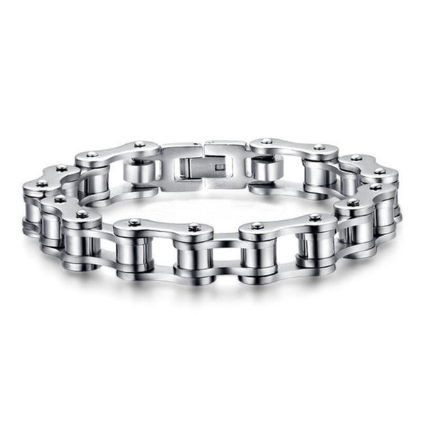 "Bike Chain Stainless Steel Bracelet 8.5""-Bracelet-Hallvaror-Gift_Ideas-Clothing-Jewelry-Accessories"