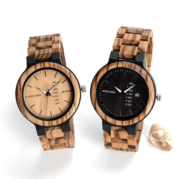 BOBO BIRD Day & Date Wooden Watch-Watch-Hallvaror-Gift_Ideas-Clothing-Jewelry-Accessories