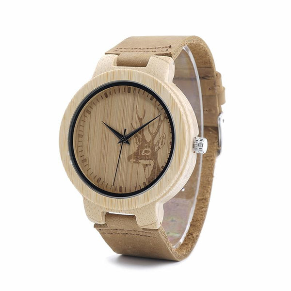 BOBO BIRD Deer Face Bamboo Wooden Watch-Watch-Hallvaror-Gift_Ideas-Clothing-Jewelry-Accessories