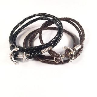 Brainded Cord Anchor Wrap Bracelet-Bracelet-Hallvaror-Gift_Ideas-Clothing-Jewelry-Accessories
