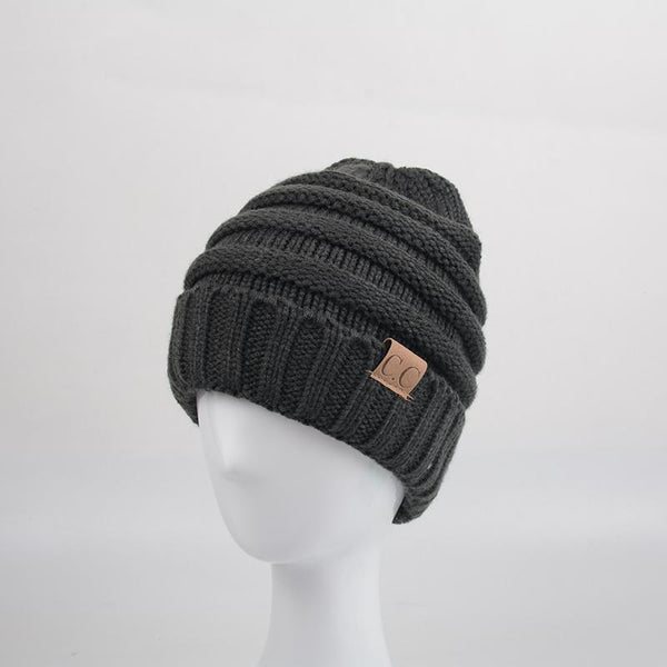 CC Label Knit Beanie Hat-Hat-Hallvaror-Gift_Ideas-Clothing-Jewelry-Accessories