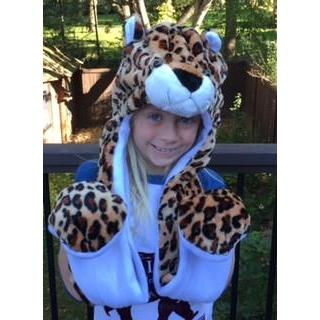 Kids Animal Hats with Scarf, Paw Pockets-Hats-Leopard-Hallvaror-Gift_Ideas-Clothing-Jewelry-Accessories