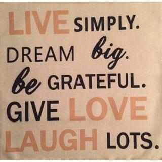 Live Simply, Dream Big Inspiration Pillow Cover-Pillow-Hallvaror-Gift_Ideas-Clothing-Jewelry-Accessories