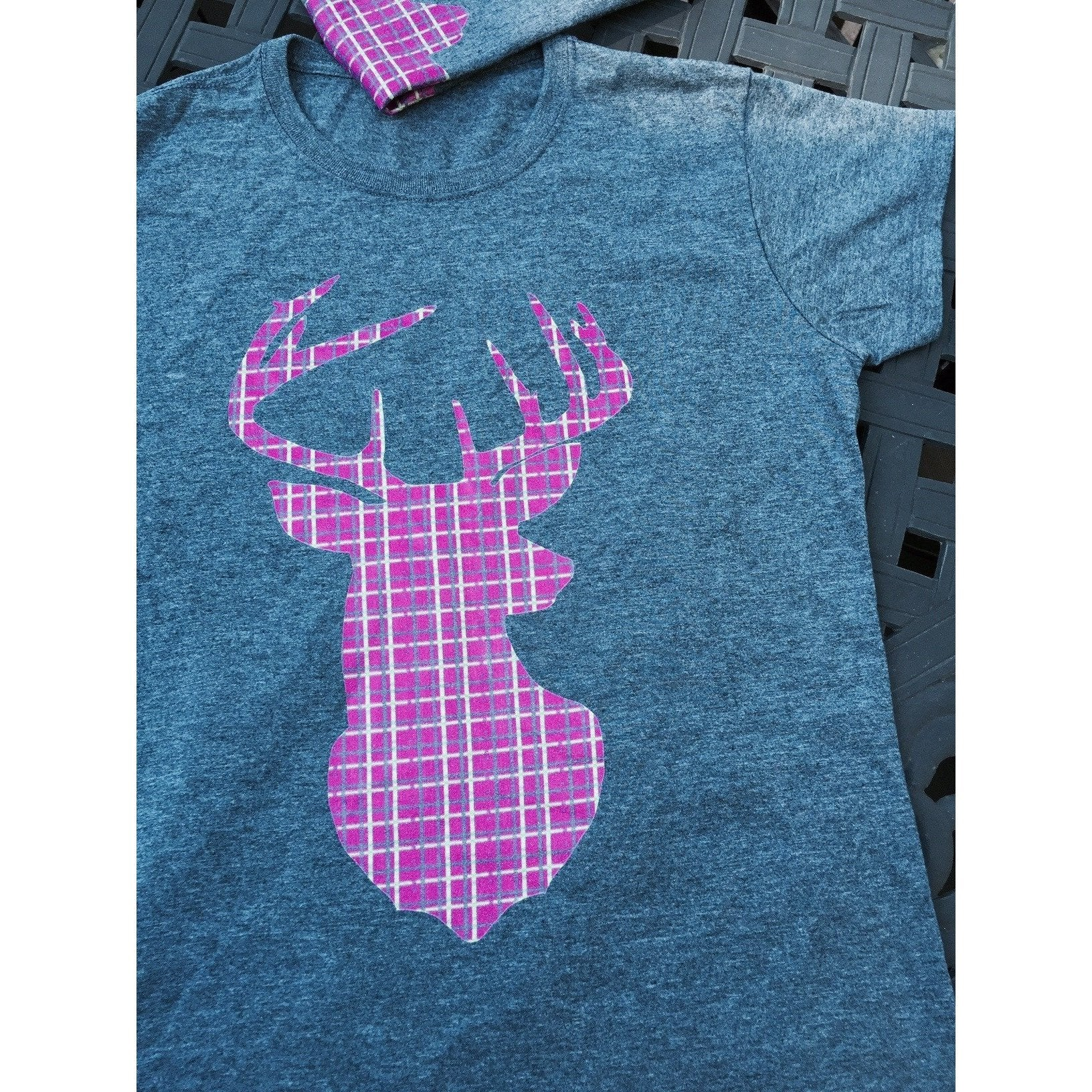 Plaid Buck ~ Hot Pink Ladies Edition-Tee-Hallvaror-Gift_Ideas-Clothing-Jewelry-Accessories