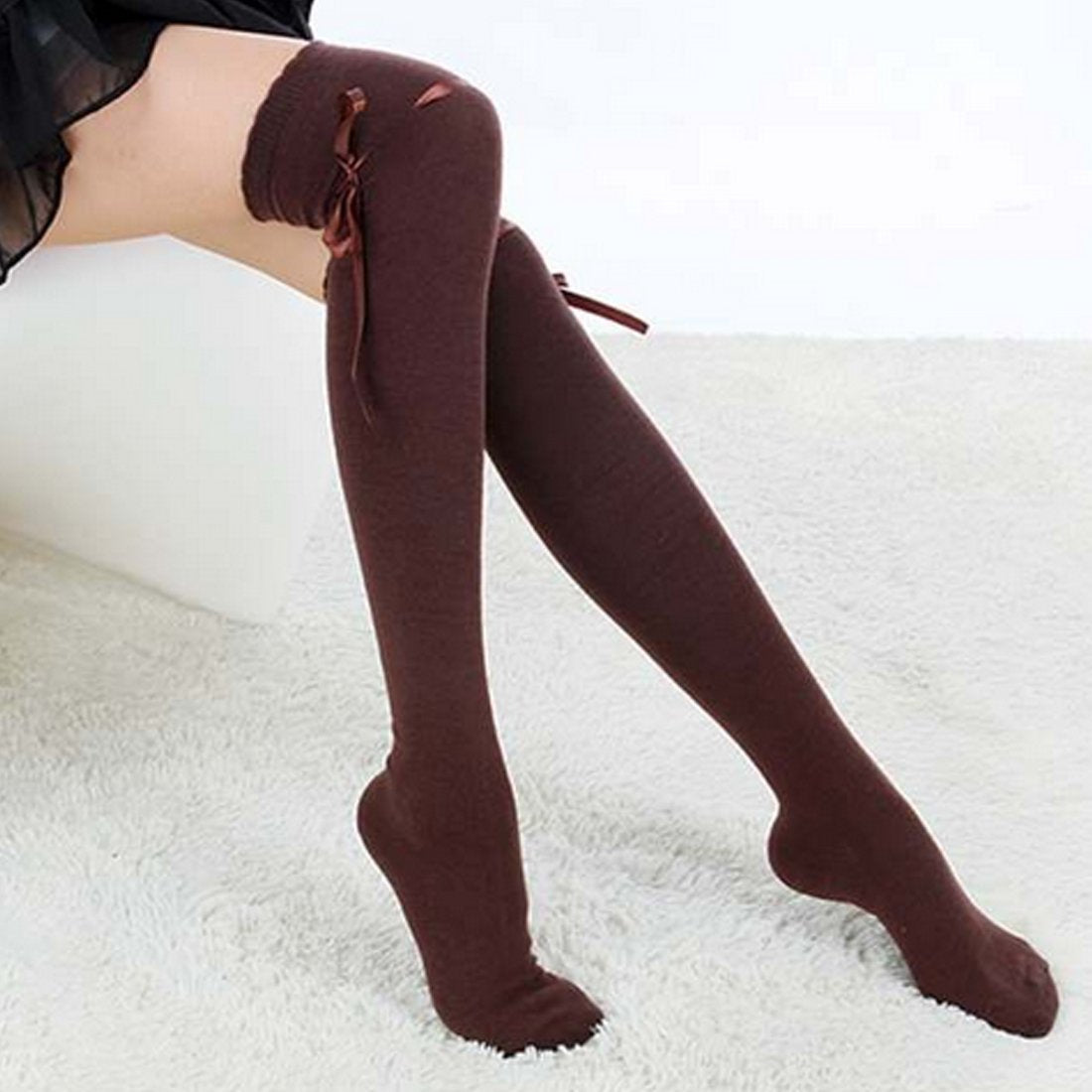 Ribbon Knit Over-the-Knee Boot Socks-Socks-Hallvaror-Gift_Ideas-Clothing-Jewelry-Accessories