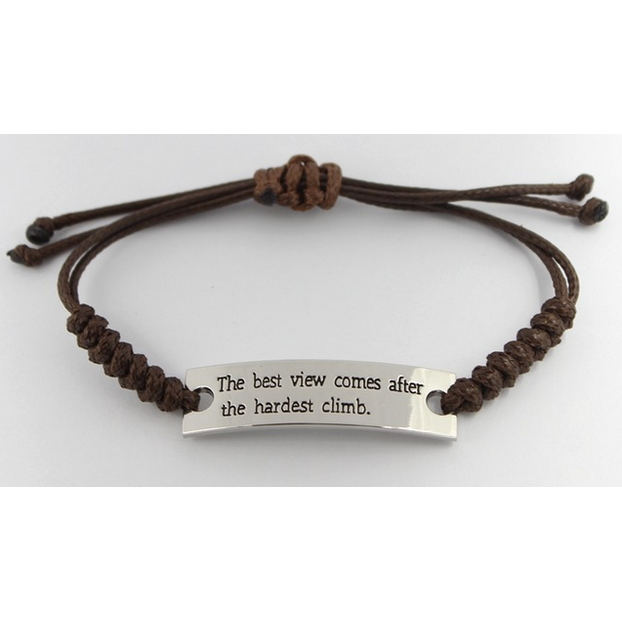 The Best View Comes After the Hardest Climb Bracelet-Bracelet-Hallvaror-Gift_Ideas-Clothing-Jewelry-Accessories