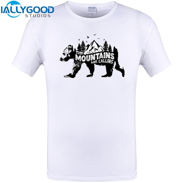 The Mountains Are Calling Bear T-Shirt-Shirt-Hallvaror-Gift_Ideas-Clothing-Jewelry-Accessories