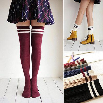 Top Stripe Knit Over-the-Knee Boot Socks-Socks-Hallvaror-Gift_Ideas-Clothing-Jewelry-Accessories