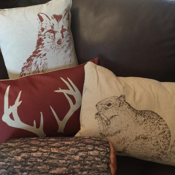 Woodland Animal Pillows-Pillow-Hallvaror-Gift_Ideas-Clothing-Jewelry-Accessories