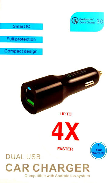 Next Generation Dual 3.0 QC USB Smart Car Charger - TREE LIFE PRODUCTS