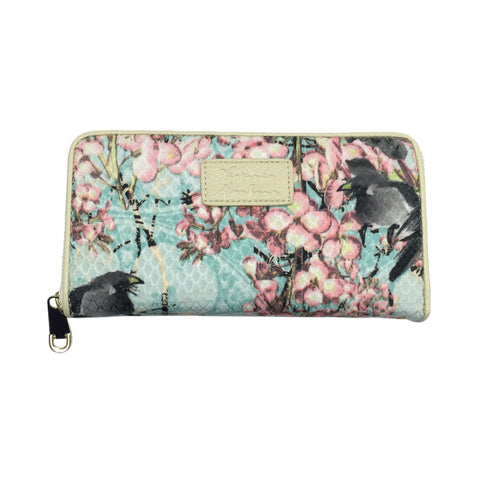 Women's Floral Clutch Zipper All Around Wallet - Clothing Deals Now