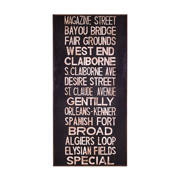 """Destinations"" Wooden Sign"
