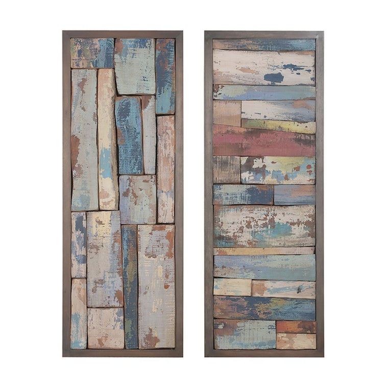 """Story Boards"" Reclaimed Wood Wall Art"
