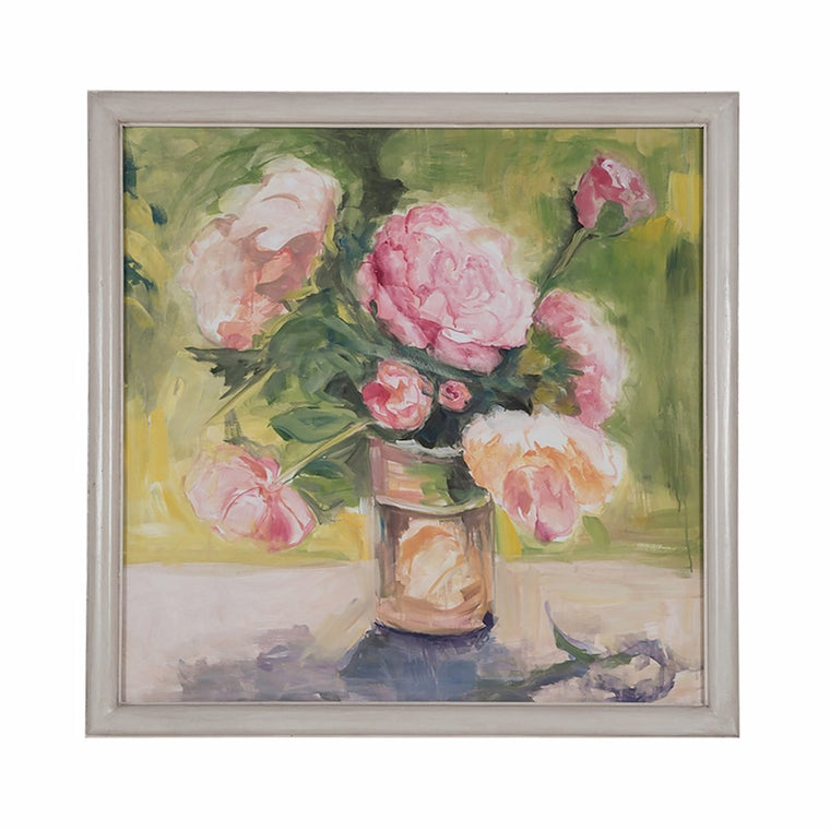 """Pink Roses Still Life"" Wall Art"