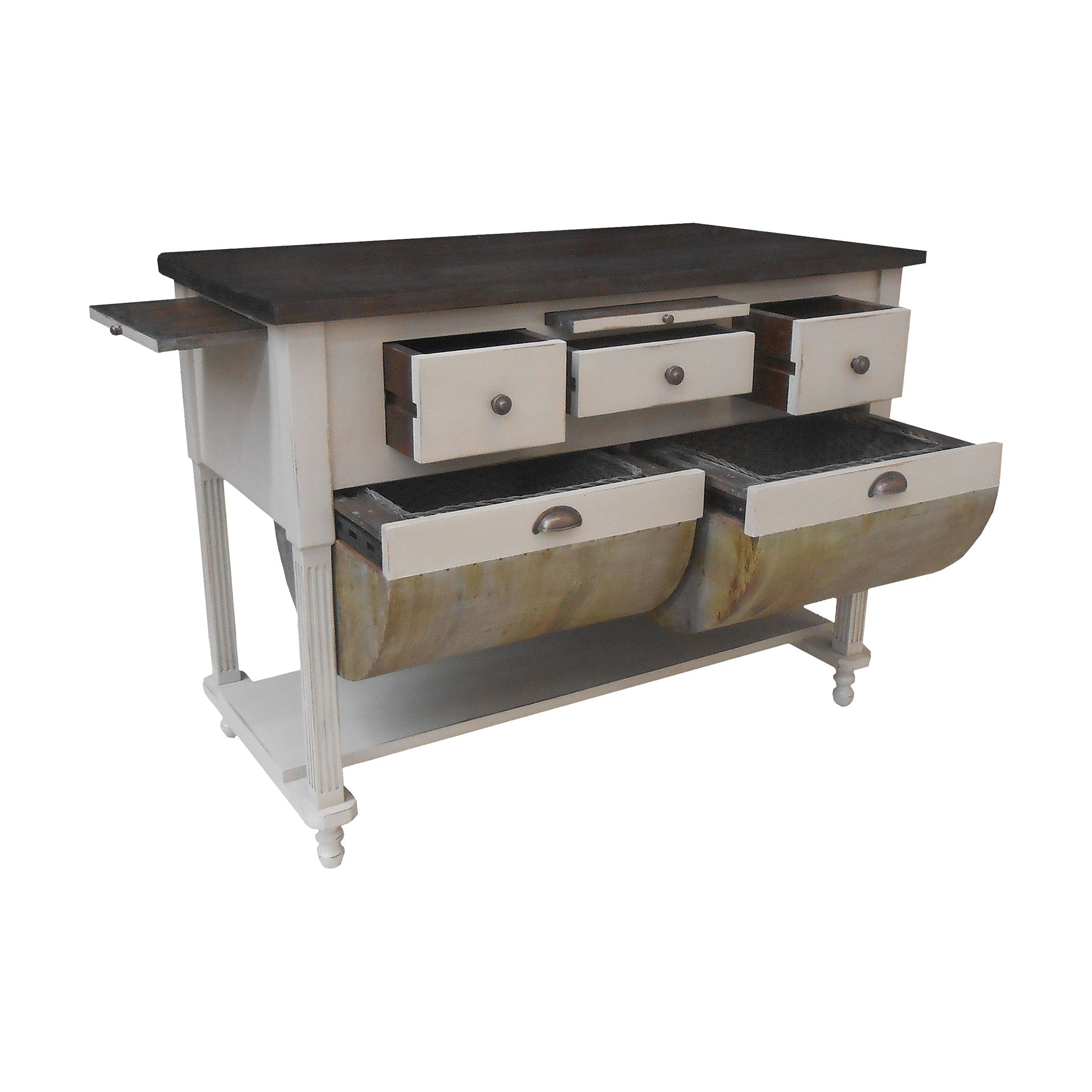 Possum Belly Kitchen Island, Manor White ...