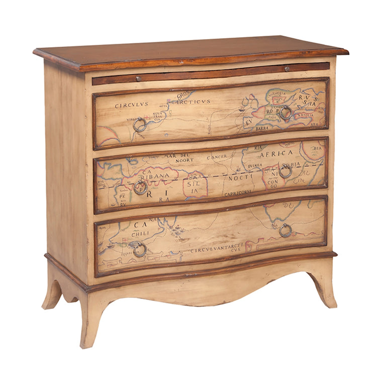 Heritage 3-Drawer Map Chest