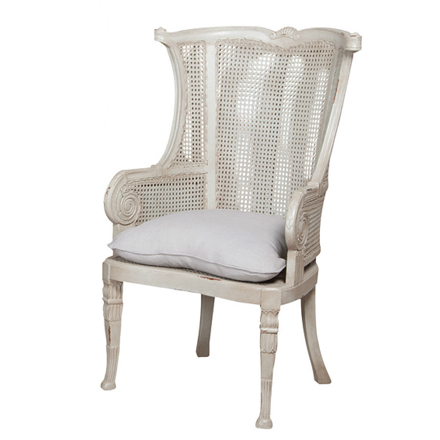 Caned Wing Back Chair