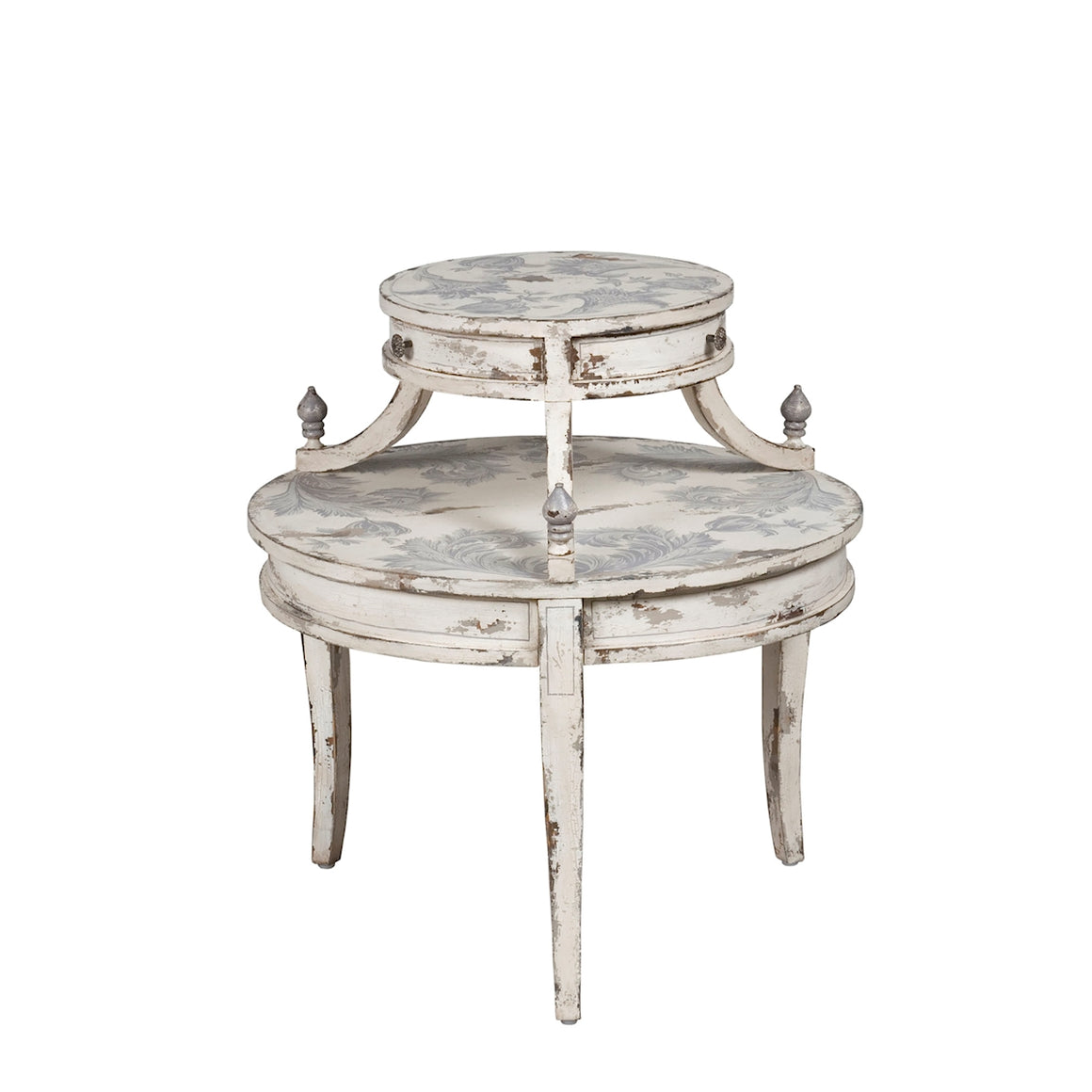 Round Tiered Side Table