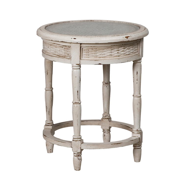 Caned Round Side Table