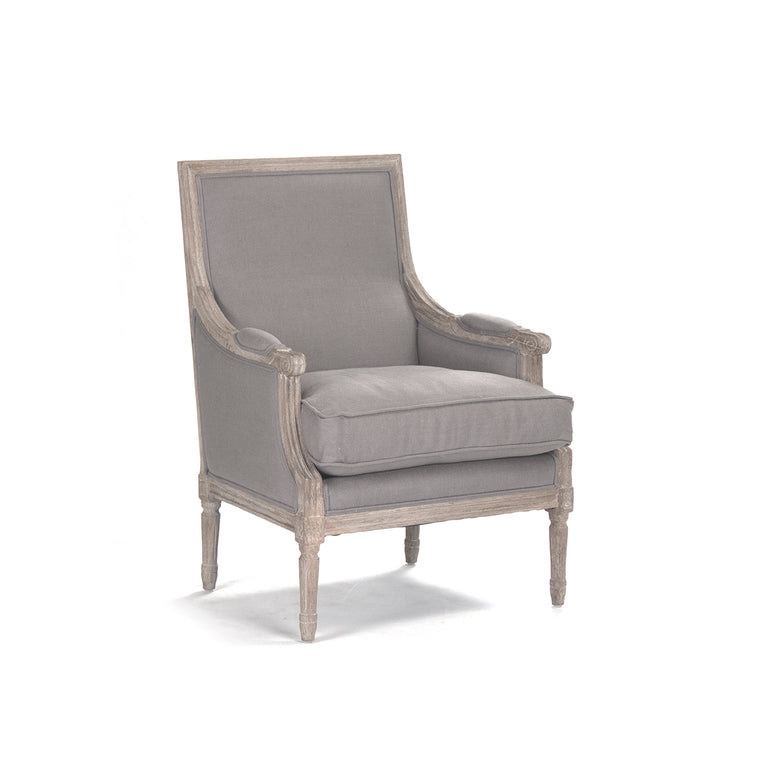 Louis Club Chair, Limed Grey Oak