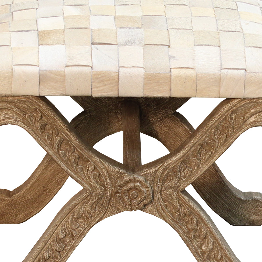 Carved Equis Stool