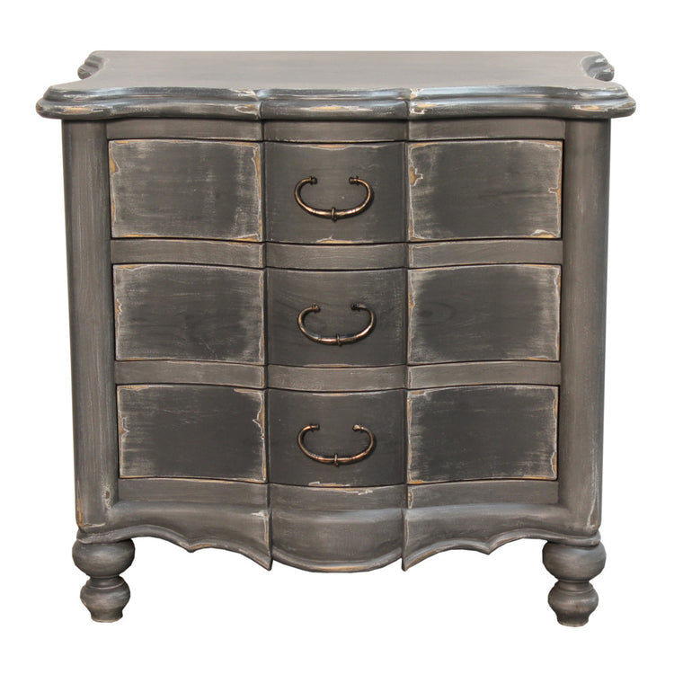 Gray Venetian Nightstand