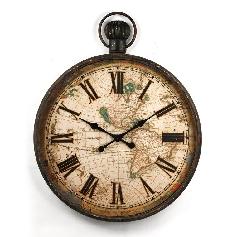 Rustic World Clock