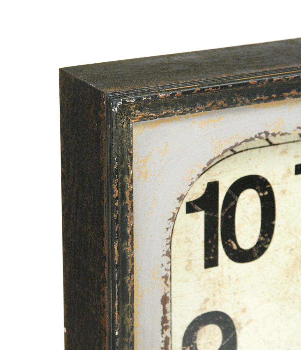 Wooden Calendar Wall Clock
