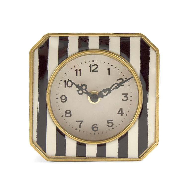 Black and White Striped Clock