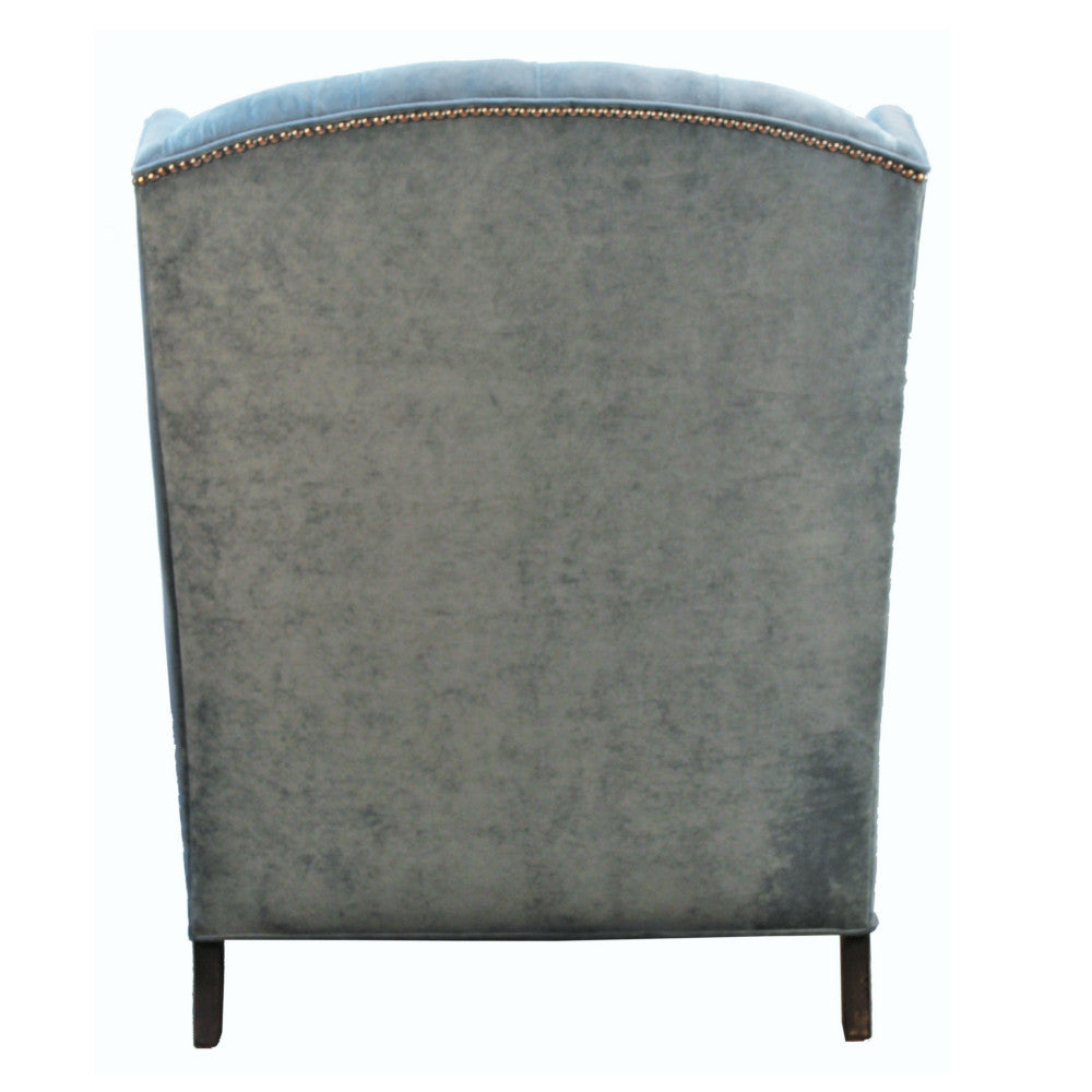 Rodin Oversized Velvet Wing Chair