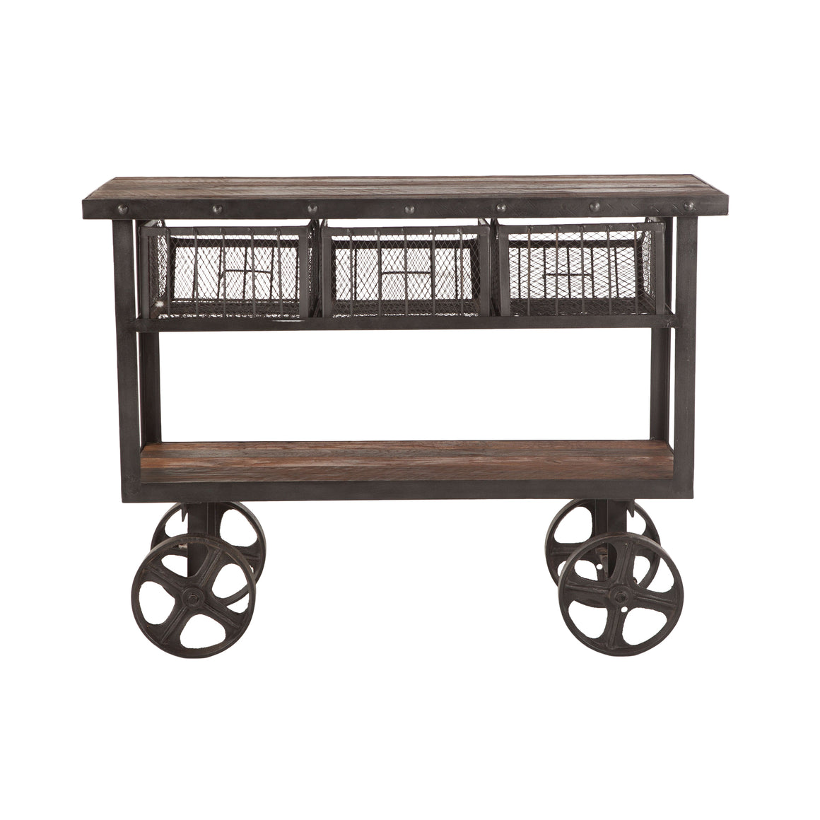 Paxton Reclaimed Teak Utility Cart