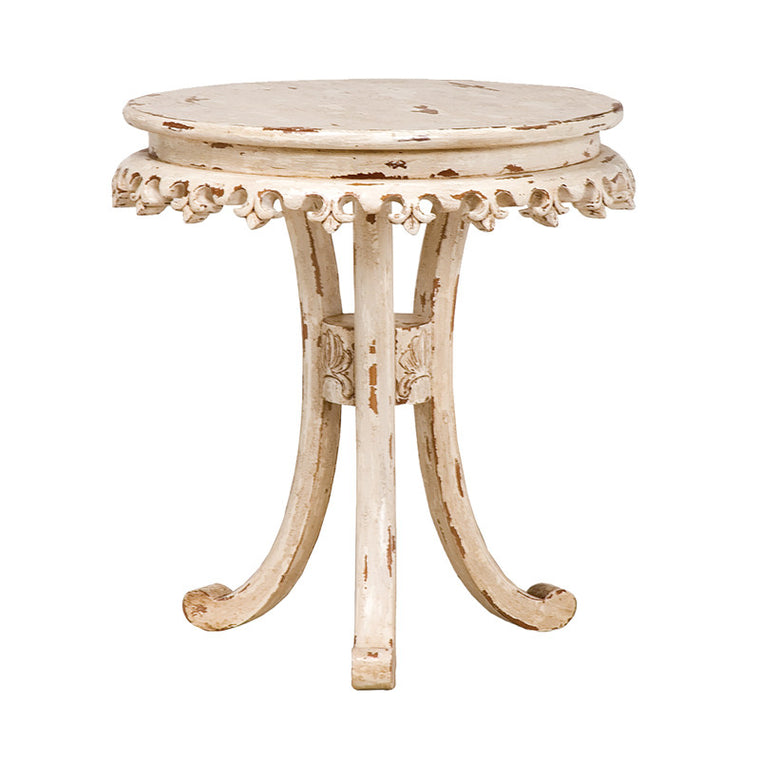 Accent Table - Fleur-De-Lis Bib Table