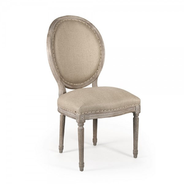 Medallion Side Chair, Limed Oak