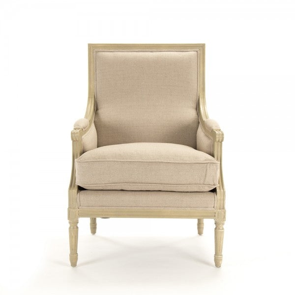 Louis Club Chair, Grey Oak