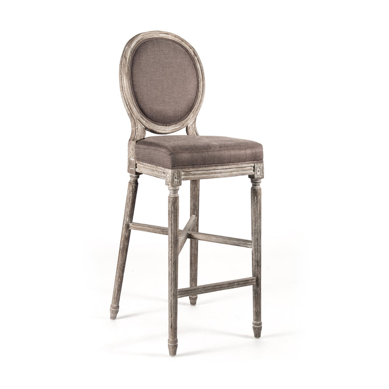 Bar Stool - Medallion Bar Stool, Limed Grey Oak