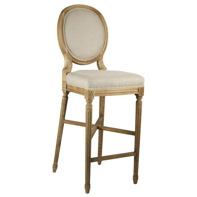 Bar Stool - Medallion Bar Stool, Natural Oak