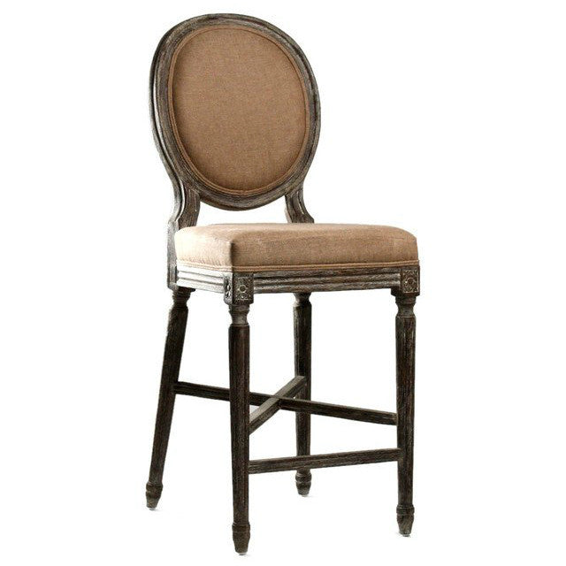 Bar Stool - Medallion Counter Stool, Limed Charcoal Oak