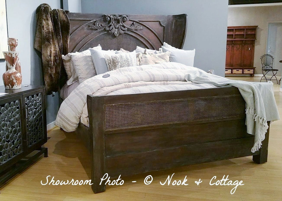 Caned Acanthus Bed