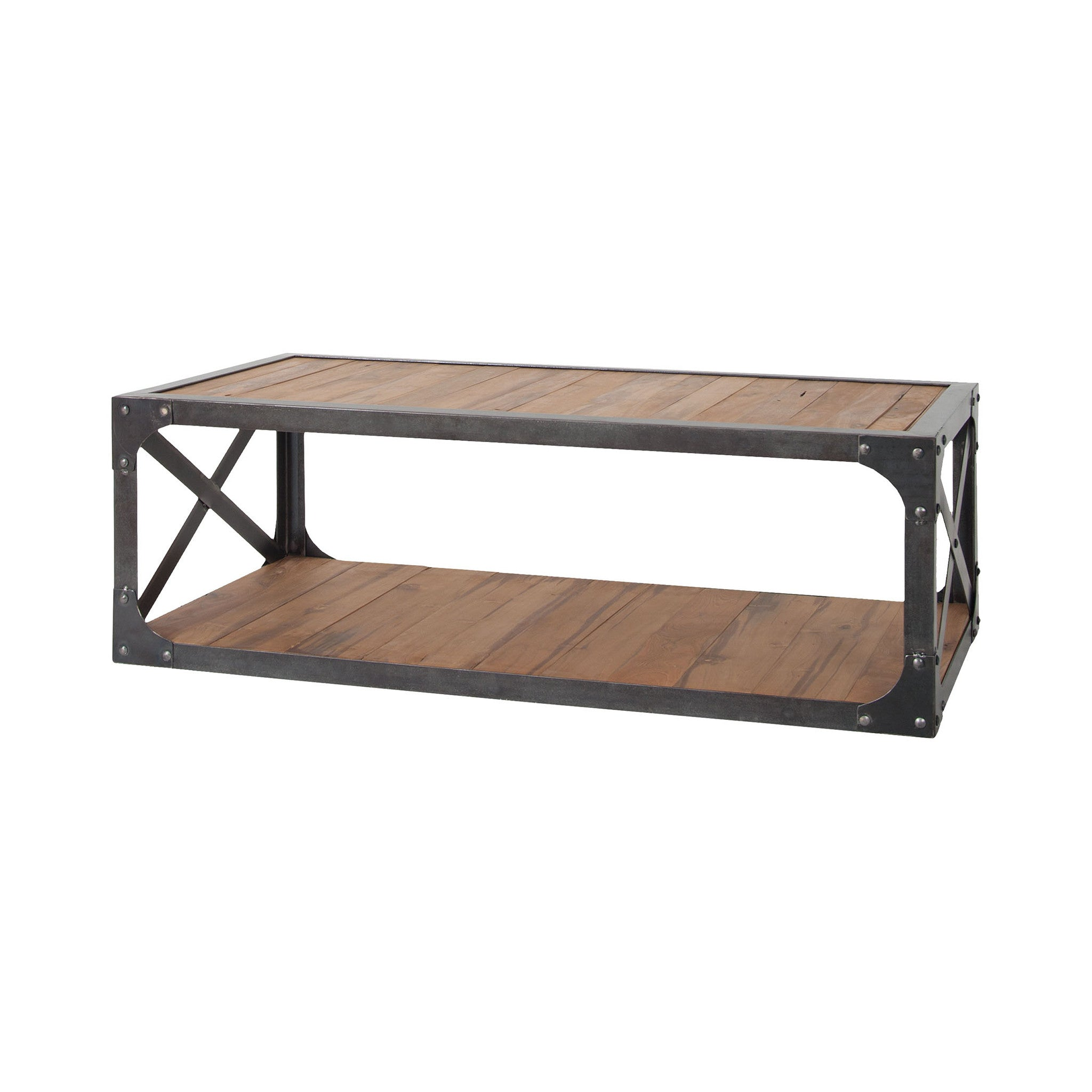 Sterling jose coffee table reclaimed wood 7162 059 accent coffee table jose coffee table geotapseo Image collections