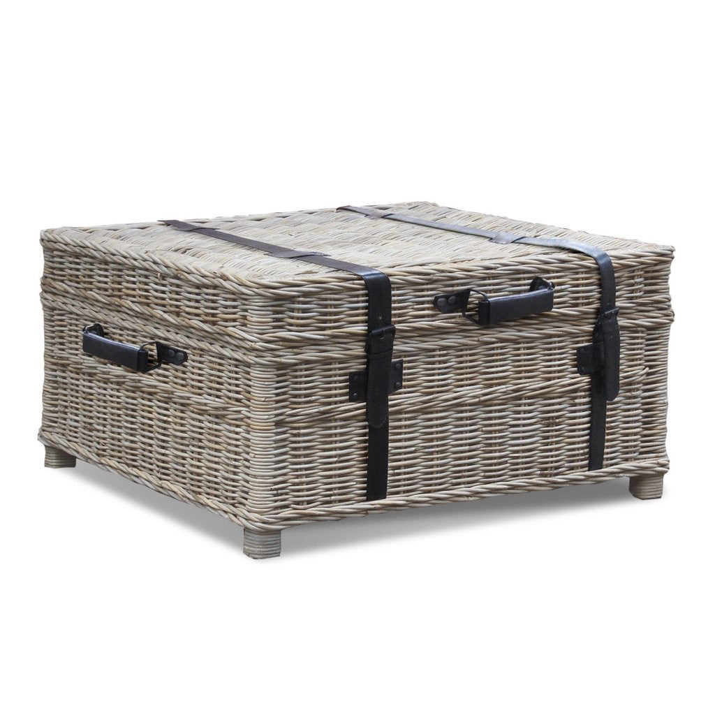 Woven coffee table trunk nook cottage coffee table woven coffee table trunk geotapseo Image collections